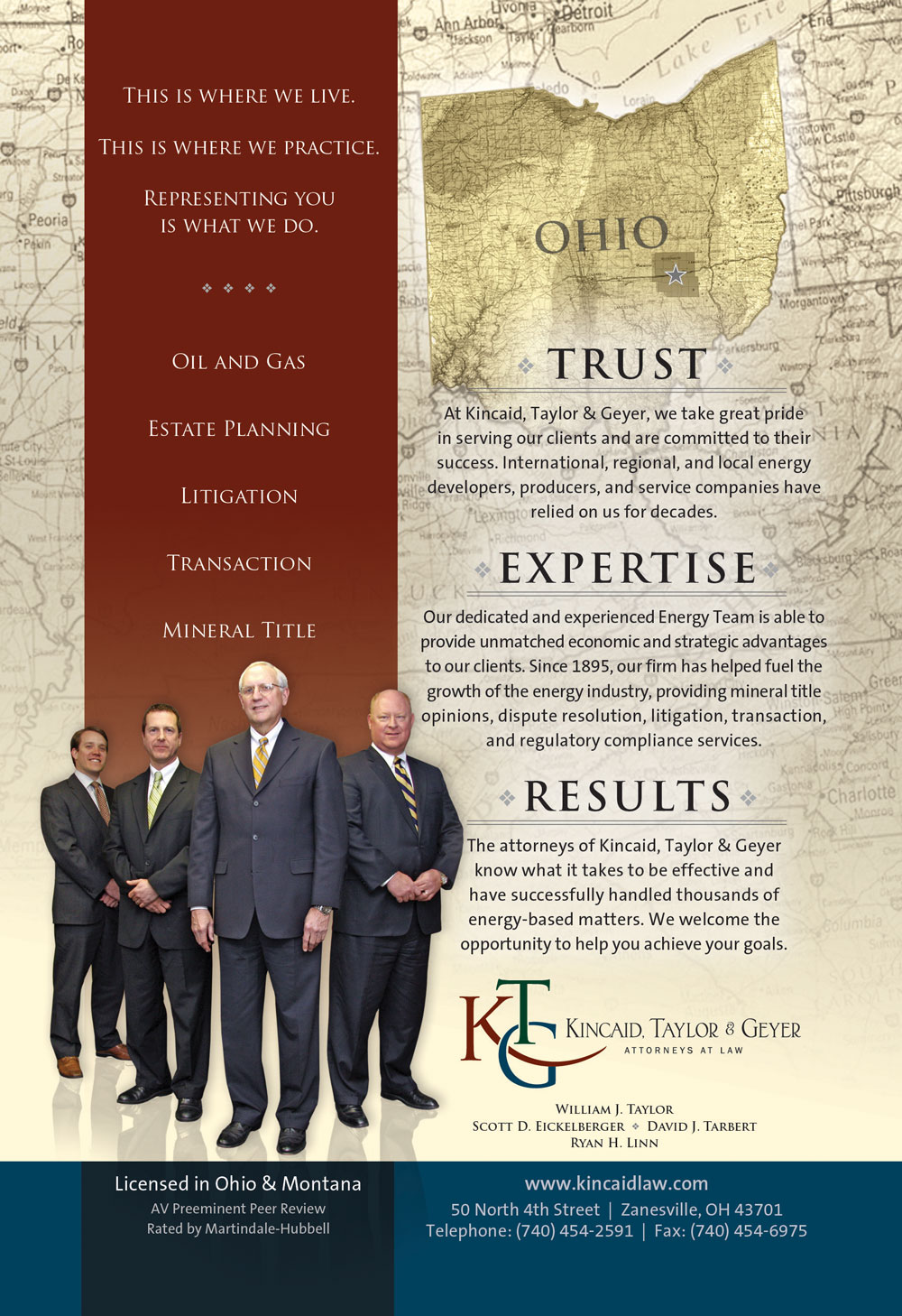 Kincaid Taylor Geyer Oil Gas Attorneys Zanesville Ohio